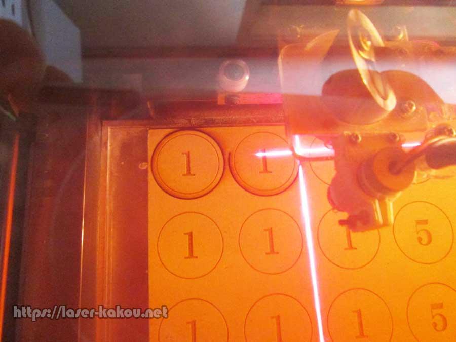 MDF おもちゃ硬貨 レーザー加工5