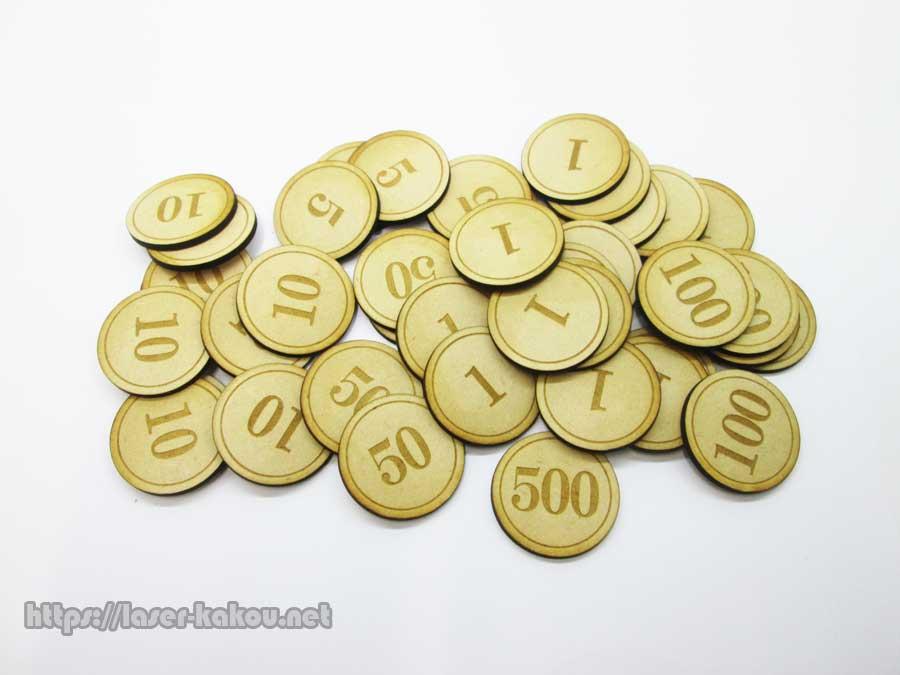 MDF おもちゃ硬貨