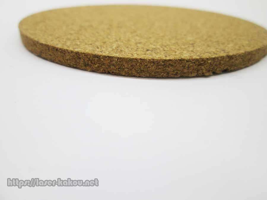 コルクコースター レーザー彫刻 ダイソーコースター厚み